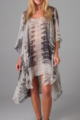 Tigerlily Bright Shield Caftan Cover Up - Lyst