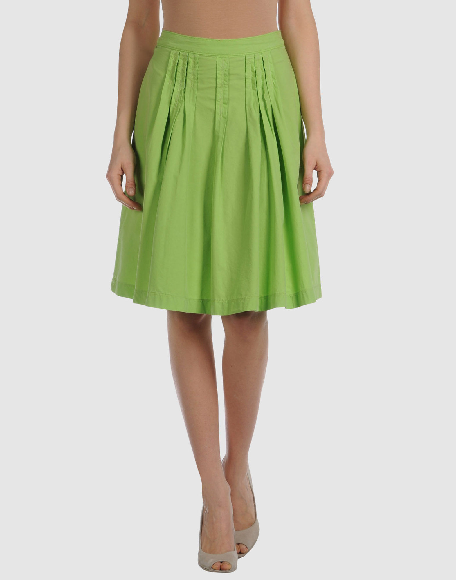 miss sixty knee length skirt in green lyst