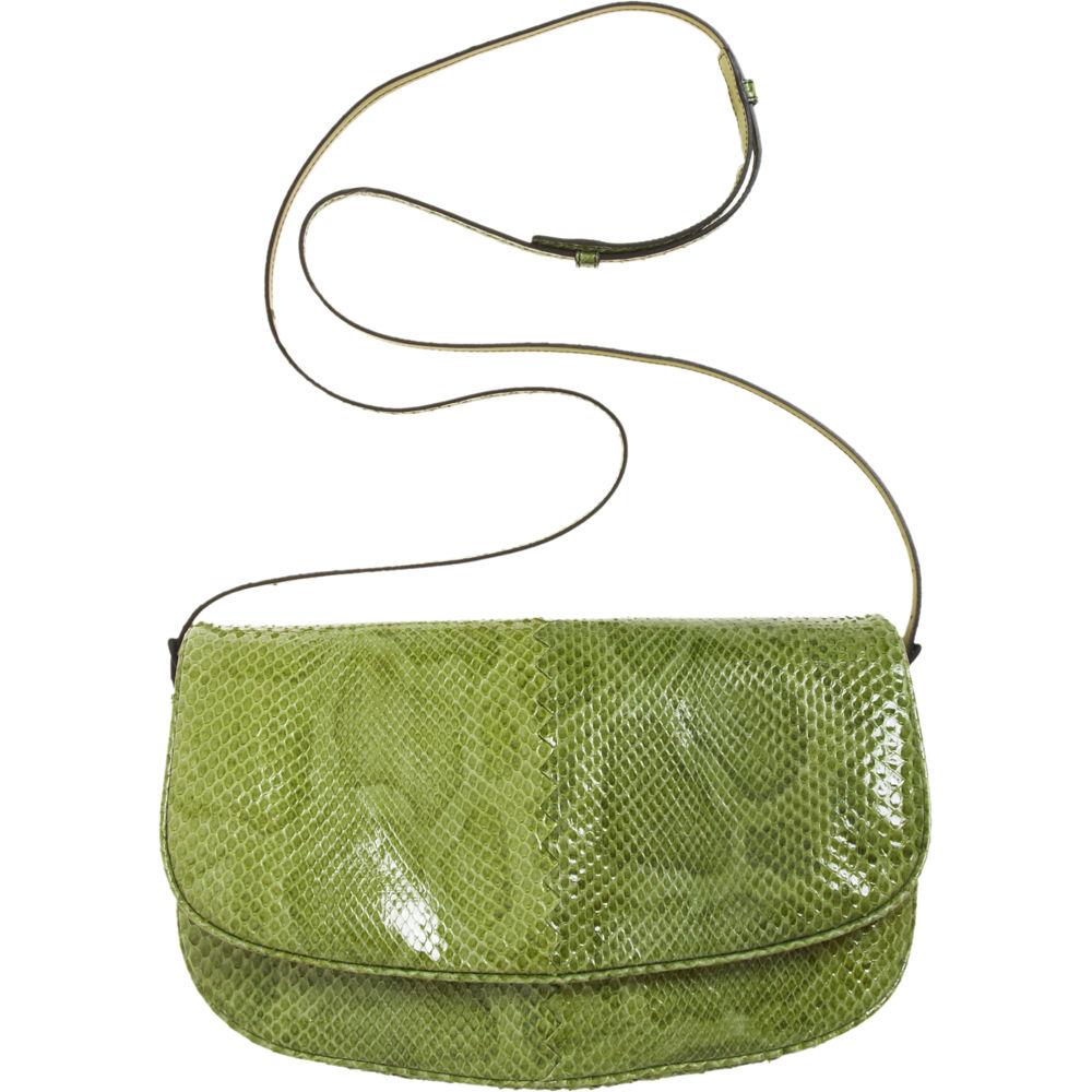 Bottega Veneta Small Python Messenger Bag in Green - Lyst cc85ae2cc294a