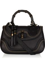Gucci New Bamboo Stud-embellished Leather Tote