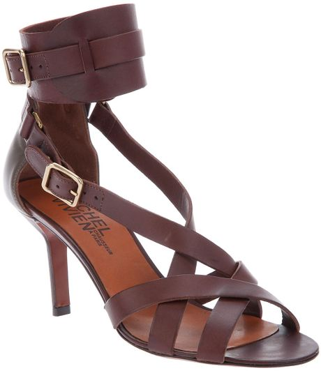 Michel Vivien Buckle Fastening Sandal in Brown (tabacco) - Lyst