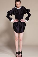 Viktor & Rolf Cinched Waist Dress in Black