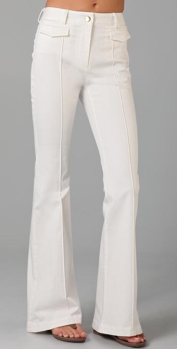 Adam lippes Bell Bottom Jeans in White | Lyst