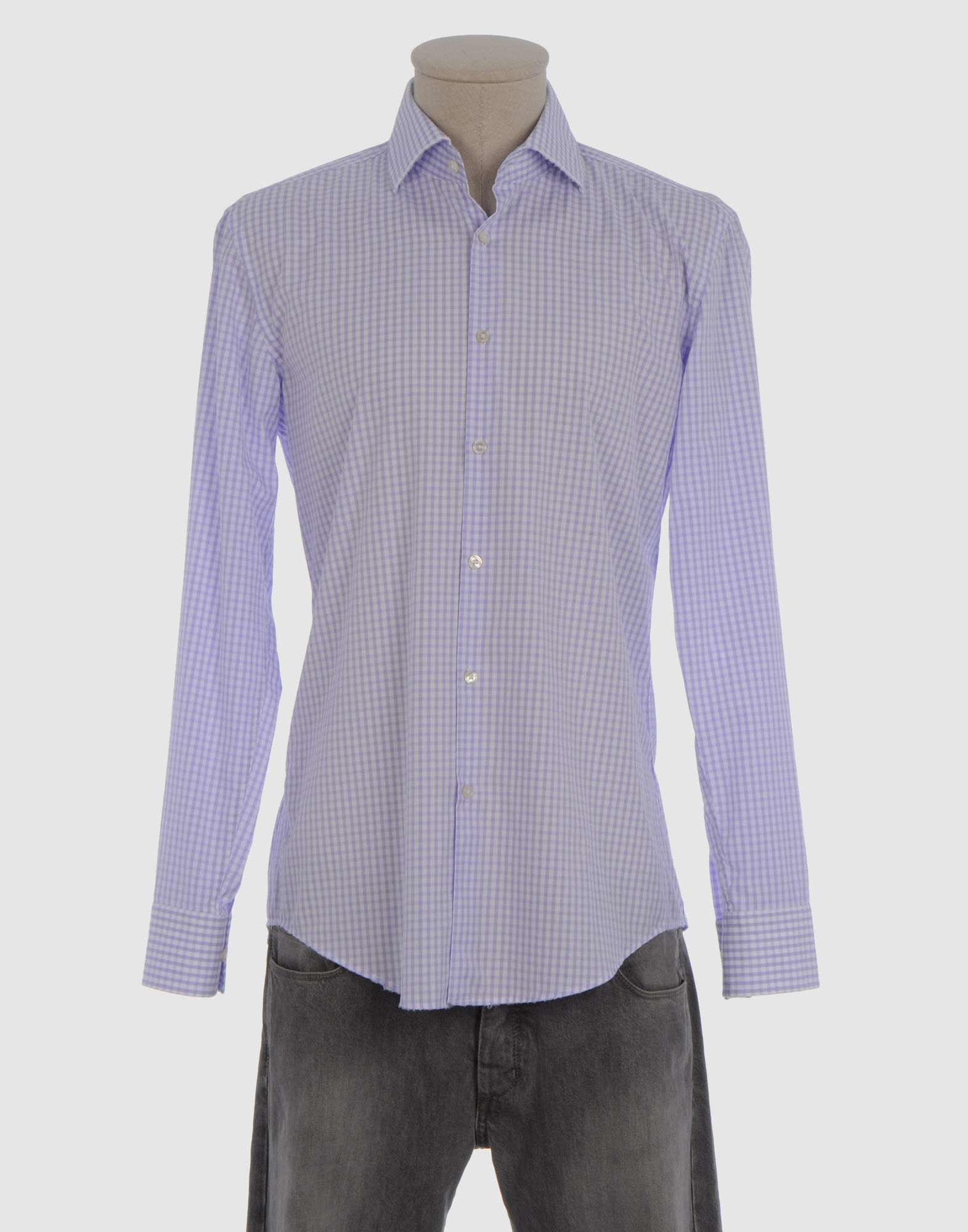 boss by hugo boss long sleeve shirt in purple for men lilac lyst. Black Bedroom Furniture Sets. Home Design Ideas