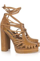 Ralph Lauren Collection Sherene Leather Sandals - Lyst