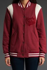 See By Chloé Varsity Jacket in Red - Lyst