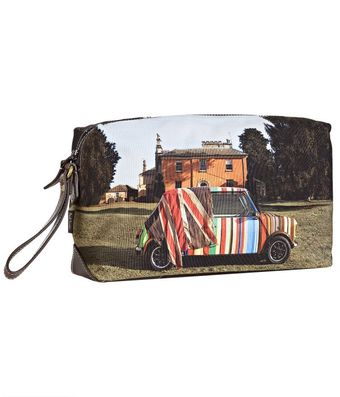 Paul Smith Brown Mini On Location Printed Canvas Dopp Kit - Lyst