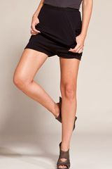 Rick Owens Lilies Draped Drop Crotch Shorts in Black - Lyst