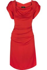 Vivienne Westwood Anglomania Hybrid Draped Jersey Dress - Lyst