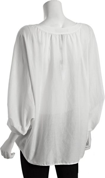 White Cotton Peasant Blouse 66