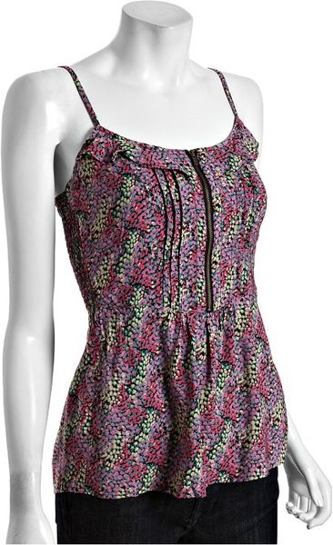 Heartloom Pink Floral Print Milli Zipper Cami in Pink - Lyst