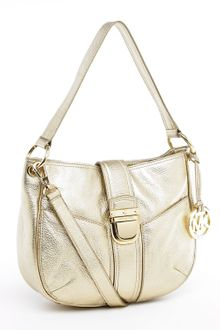 Michael Kors Michael Riley Medium Messenger Pale Gold - Lyst