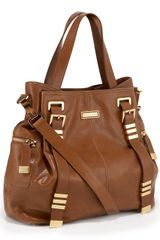 Michael Kors Darrington Large Shoulder Tote, Walnut - Lyst