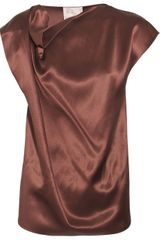 Roksanda Ilincic Silk-satin Draped Blouse - Lyst