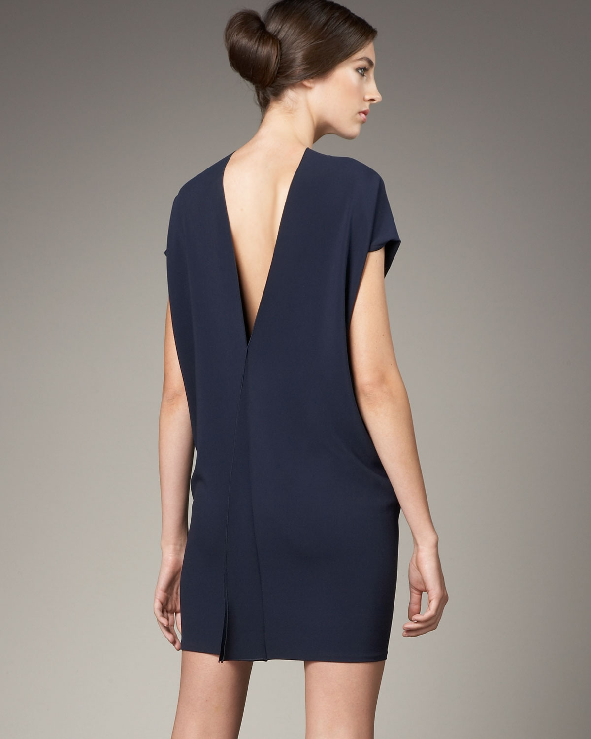 869aea598d Lyst - Roland Mouret V-back Cocoon Dress in Blue