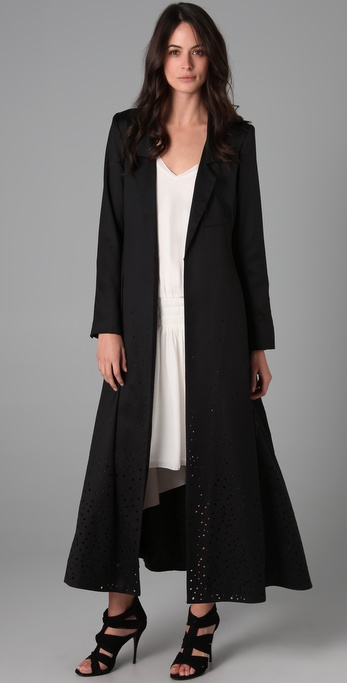 Elizabeth and james Duster Coat in Black | Lyst