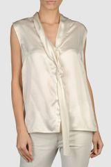 Costume National Sleeveless Shirt - Lyst