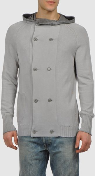 Diesel Cardigan in Brown for Men (cocoa)