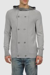 Diesel Cardigan in Brown for Men (cocoa) - Lyst