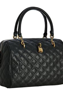 Marc Jacobs Black Quilted Leather Westside Boston Bag - Lyst