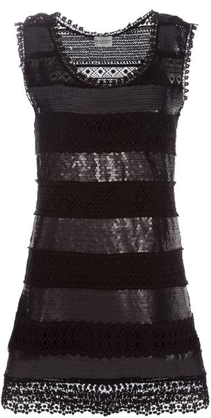 Philosophy Di Alberta Ferretti Panelled Dress in Black
