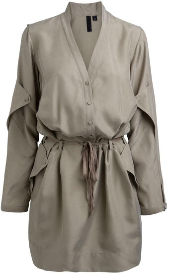 Edun Long Sleeved Shirt Dress - Lyst