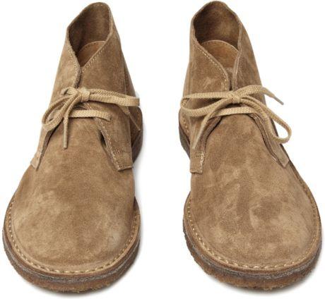 J Crew Macalister Suede Desert Boots In Beige For Men