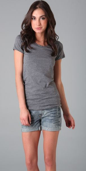 Lna Crew Neck Tee in Gray (grey)