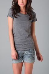 Lna Crew Neck Tee in Gray (grey) - Lyst