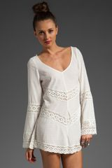 Free People Crochet Embellished Tunic - Lyst