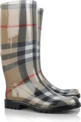 Burberry Lisson Check Wellington Boots - Lyst
