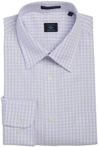 Joseph abboud lavender window check cotton point collar for Joseph abboud dress shirt