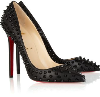 Christian Louboutin Pigalle Spikes 120 Studded Leather Pumps - Lyst