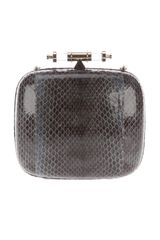 Givenchy Snake Skin Box Clutch in Brown (black) - Lyst