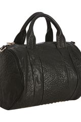 Alexander Wang Black Pebbled Leather Rocco Satchel - Lyst