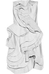 Camilla & Marc Ruffled Silk-satin and Organza Dress - Lyst