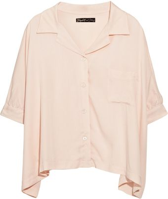 Elizabeth And James Estelle Cropped Loose-fit Blouse - Lyst