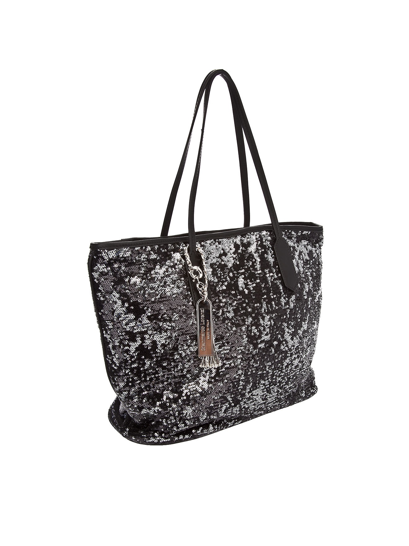 Black Gianmarco In Tote Lorenzi Bag Lyst Sequin SqwHUqXxB