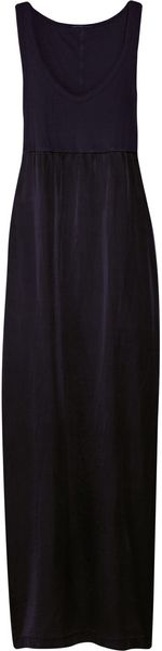 James Perse Cotton and Silk-blend Maxi Dress - Lyst