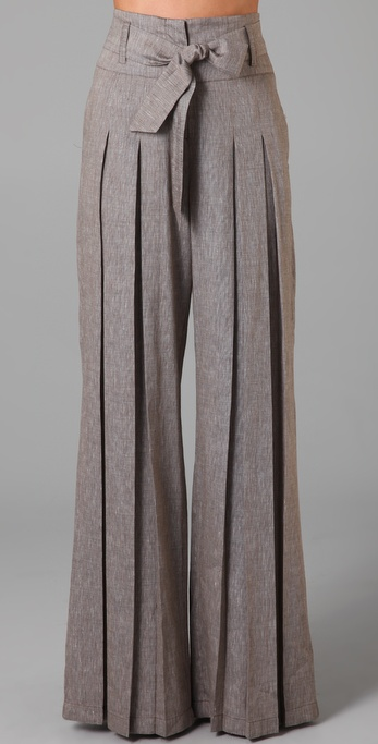 Wide Leg Pants Linen