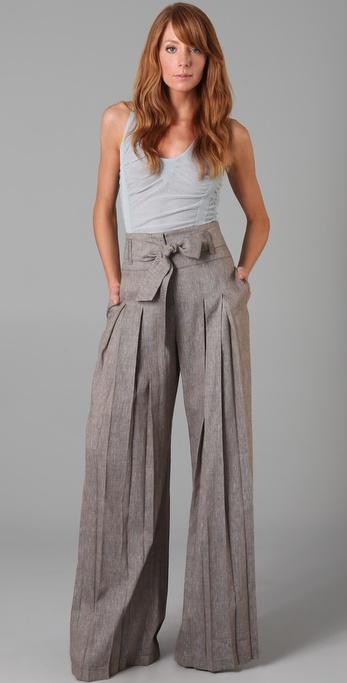 L.a.m.b. Cross Dye Wide Leg Pants in Gray | Lyst