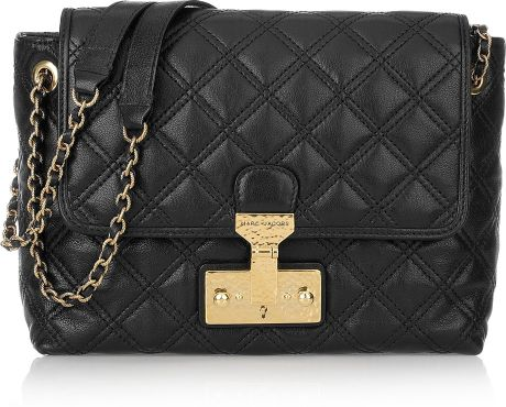 Marc Jacobs Baroque Single Leather Shoulder Bag in Black - Lyst