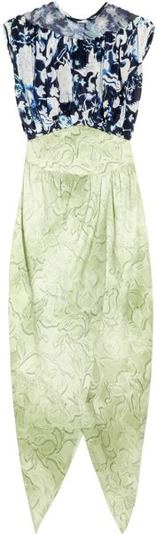 Rodarte Ming-print Silk-blend Organza and Crepe Dress - Lyst