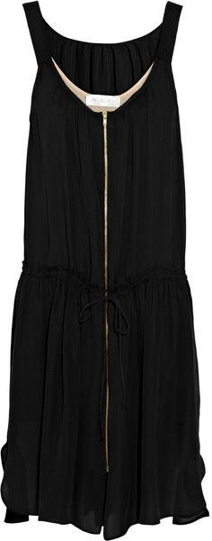 A.l.c. Marni Drawstring Silk Dress in Black - Lyst