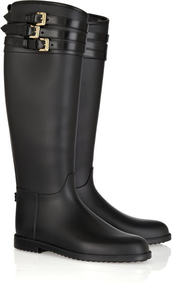 Burberry Buckle-embellished Rubber Boots - Lyst