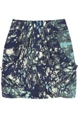 Tibi Printed Silk Mini Skirt - Lyst