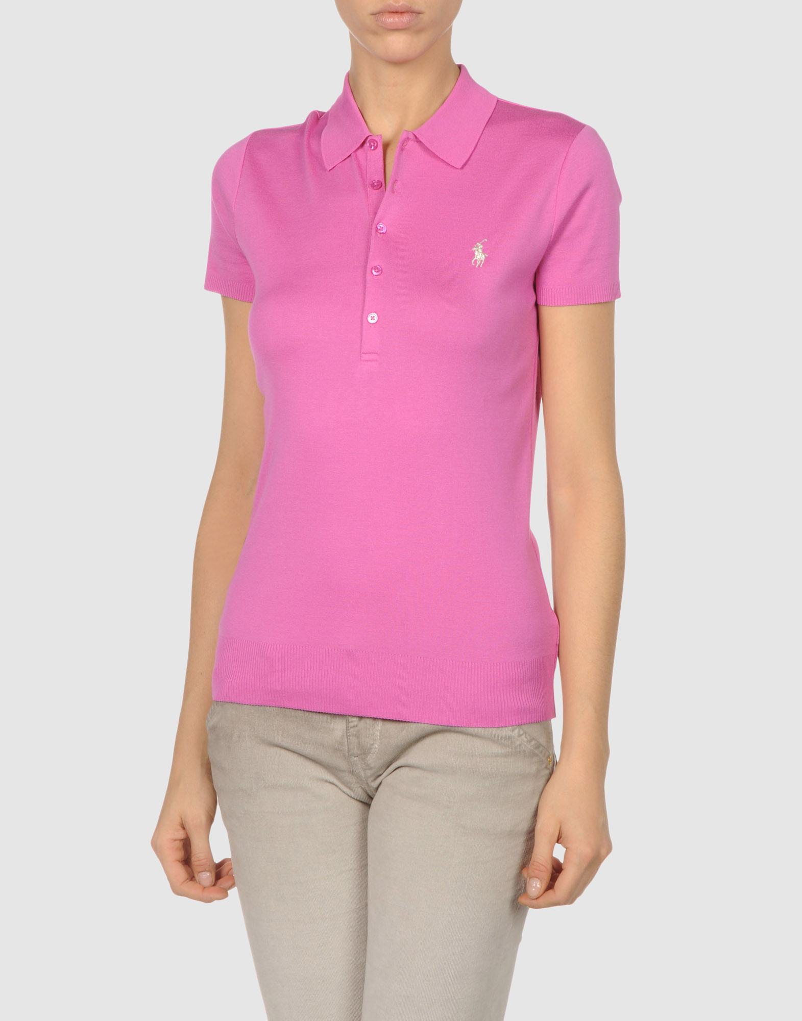 Ralph lauren black label polo shirt in pink purple lyst for Black ralph lauren shirt purple horse