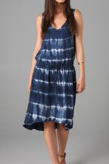 C&c California Tie Dye Stripe Dress - Lyst