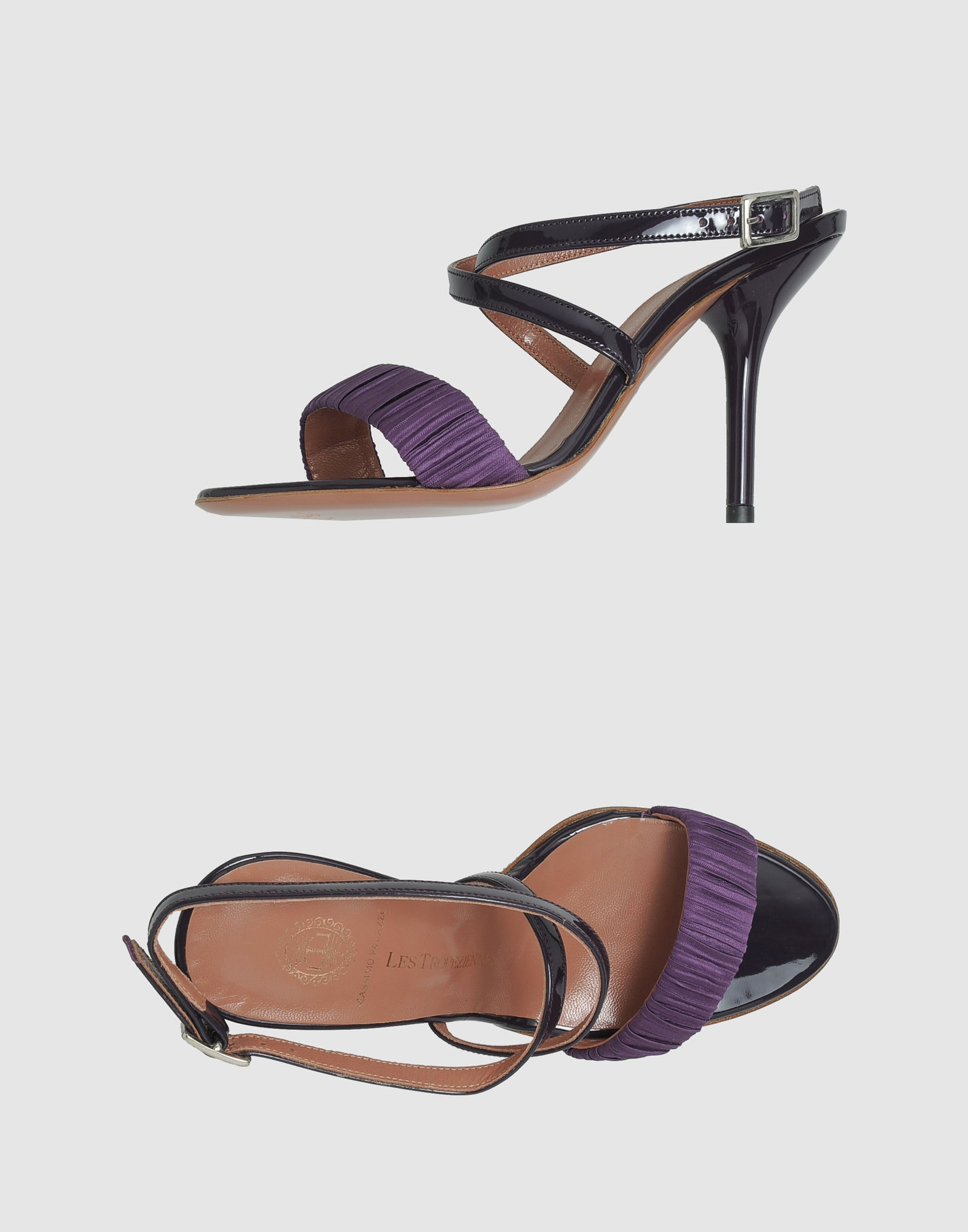 les tropeziennes high heeled sandals in purple lyst. Black Bedroom Furniture Sets. Home Design Ideas