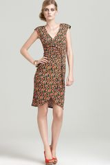 Nanette Lepore Sea Biscuit Printed Jersey Dress - Lyst
